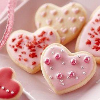 Песочные печенья-валентинки