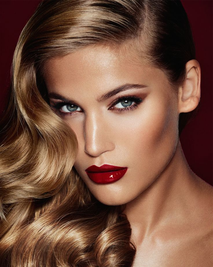 Red lip & Luxurious hair can be achieved with beautyflows hair extensions. go to www.beautyflows.co.uk