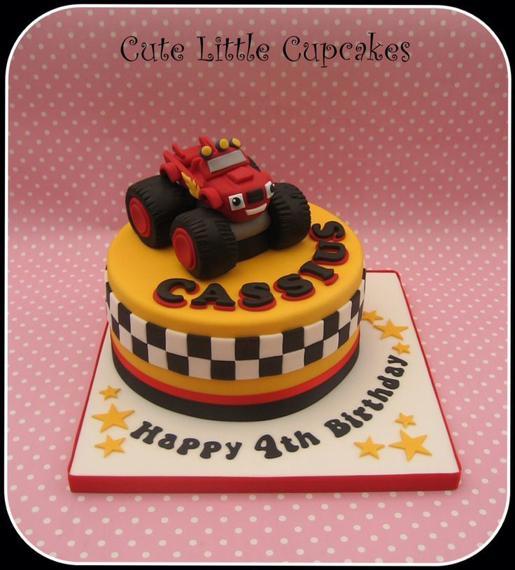 Blaze monster truck birthday cake