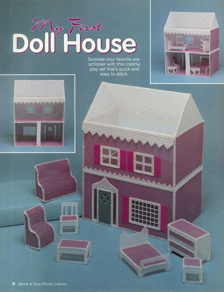 19 best images about Doll Houses on Pinterest Plastic canvas, Little girls ...
