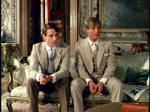 Charles Ryder and Sebastian Flyte in Brideshead Revisited.