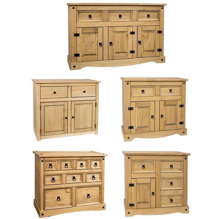 Corona Panama Sideboard Door Drawer Cupboard Solid Pine Waxed Mexican Furniture