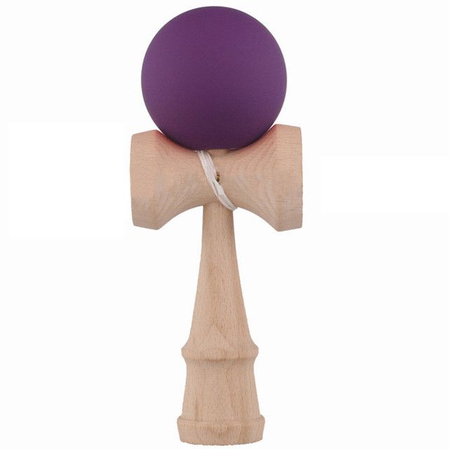Professional Rubber Paint Kendama Matte Ball Kid Kendama Japanese Traditional Toy Wooden Ball 18.5 cm Skillful Toy For Children