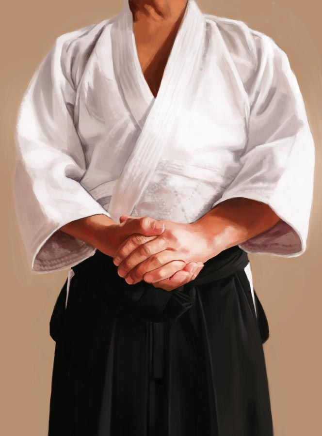 Aikido Hands I – Furitama | Digital painting by Dimme McWood | www.monkeyboy.nl