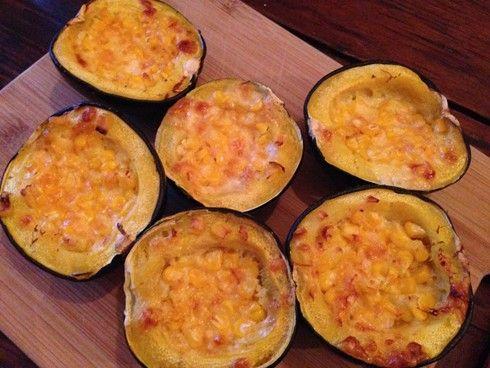 Cheesy corn gem squash | Recipe Binder