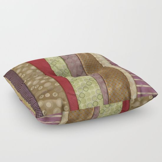 Load of ties - Mulit Coloured Floor Pillow by I Love the Quirky