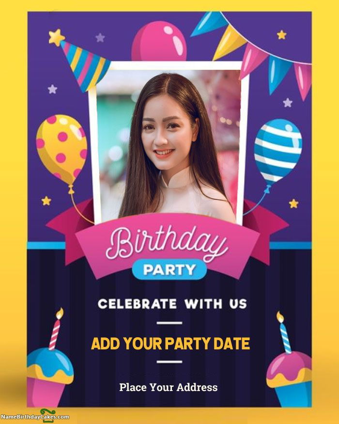 Create Download And Share Free Birthday Invitation Card Online Celebrate You Birthday Invitation Card Online Free Birthday Invitations Birthday Wishes Cards