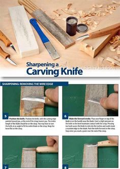 Sharpening Carving Knives - Sharpening Tips, Jigs and Techniques | WoodArchivist.com
