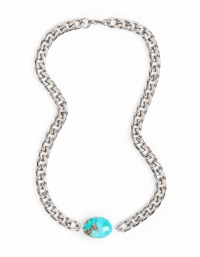 Turquoise Steel Chain 10mm