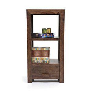 Beem 1 Drawer, 2-Shelf Book-Case (Mahogany Finish)