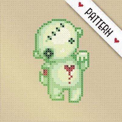 Zombie cross stitch pattern!