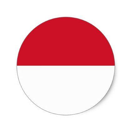 Indonesia Flag Classic Round Sticker - sticker stickers custom unique cool diy