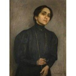 Portrait Marni Feldmanowej by Samuel Hirszenberg- Jewish Art Oil Painting…