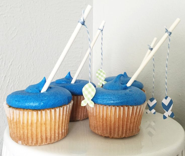 Fishing Pole Cupcake Toppers by GoAgainstTheGrain on Etsy