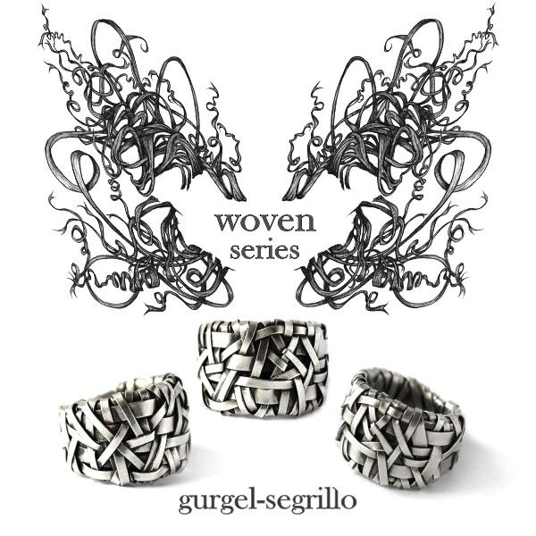 woven silver ring handcrafted to order by gurgel-segrillo -