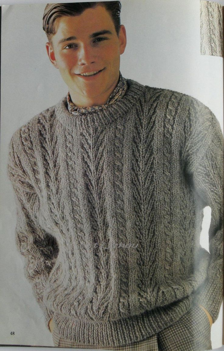 83 besten Vintage Knitting Patterns Men Bilder auf Pinterest ...