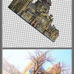 [ st-lambertuskerk  lego .v.s. real part 1 ]  1 of the 19 photo's from my collage of St-Lambertuskerk (Maastricht) ((Non-lego))