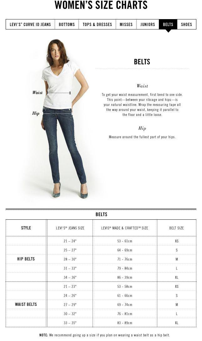 Levi Jeans Women Size Chart Heartpulsar