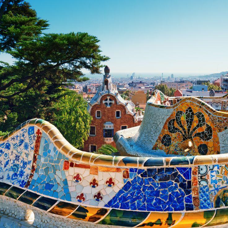 Park Guell was commissioned by Eusebi Güell and designed by Antonio Gaudí. #barcelona #bringthekids #kidandcoe  https://www.kidandcoe.com/city-scout/barcelona
