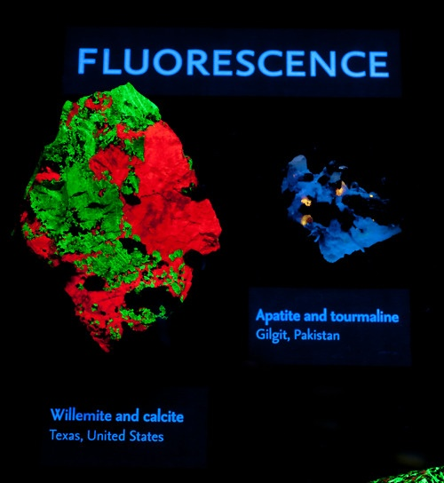 Some Minerals Contain Fluorescent Molecules That Glow