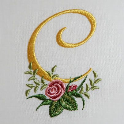 C is for friend Carol: Rose Alphabet, Embroidered Letters, 65 Rose, Cindy, Heirloom Roses, Embroidery Patterns Downloads, Letters C