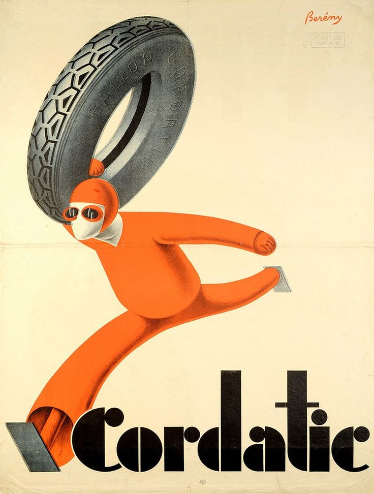 Cordiatic ad by Róbert Berény, 1927 or 1929 Source: A modern magyar plakát fénykora
