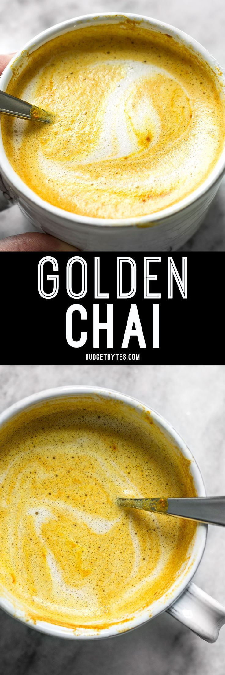 This Golden Chai is full of warm exotic spices, earthy turmeric, and just a hint of natural honey. It's warm, comforting, and perfect for fall! @budgetbytes
