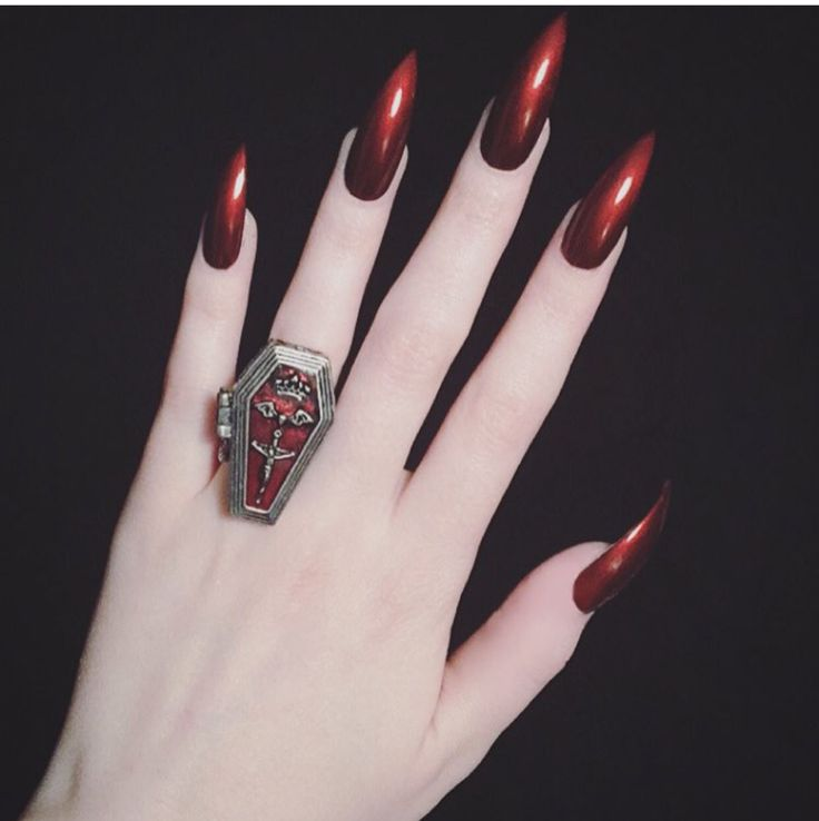 Best 25+ Long red nails ideas on Pinterest | Red nails, Red nail and Dark  red nails - Best 25+ Long Red Nails Ideas On Pinterest Red Nails, Red Nail