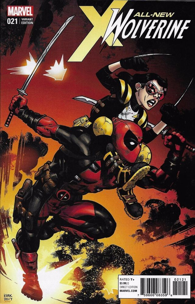 Marvel All New Wolverine comic issue 21 Limited 1 in 10 variant