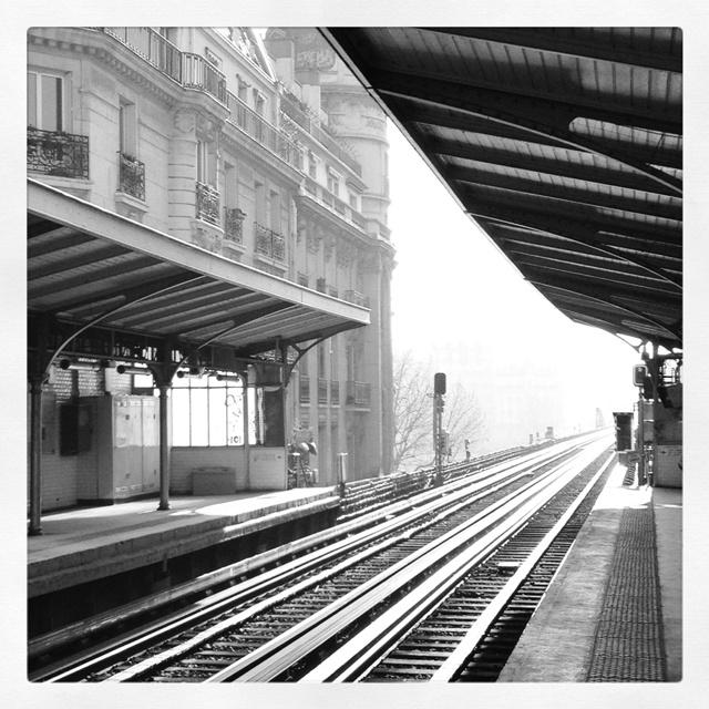 Métro Passy, Paris. I took this picture using my iPhone 4S and Instagram.