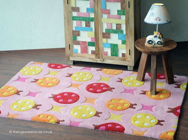 Beetles Rug A Fun Ladybird Themed Children S Hand Tufted 100