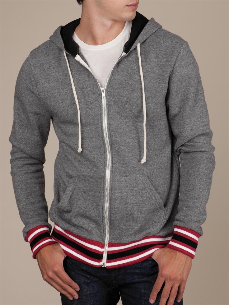 Alternative Apparel Men's Woody Zip Hoodie : Men
