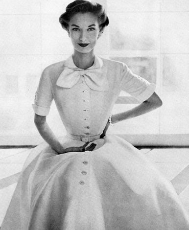 White 1950's Dress. <3 | More fashion lusciousness here: http://mylusciouslife.com/photo-galleries/historical-style-fashion-film-architecture/