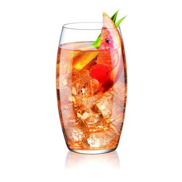 Ιταλικά ποτήρια νερού ή χυμού από την σειρά Symposium, Borimioli Rocco, γυάλινα με μοντέρνα γραμμή.