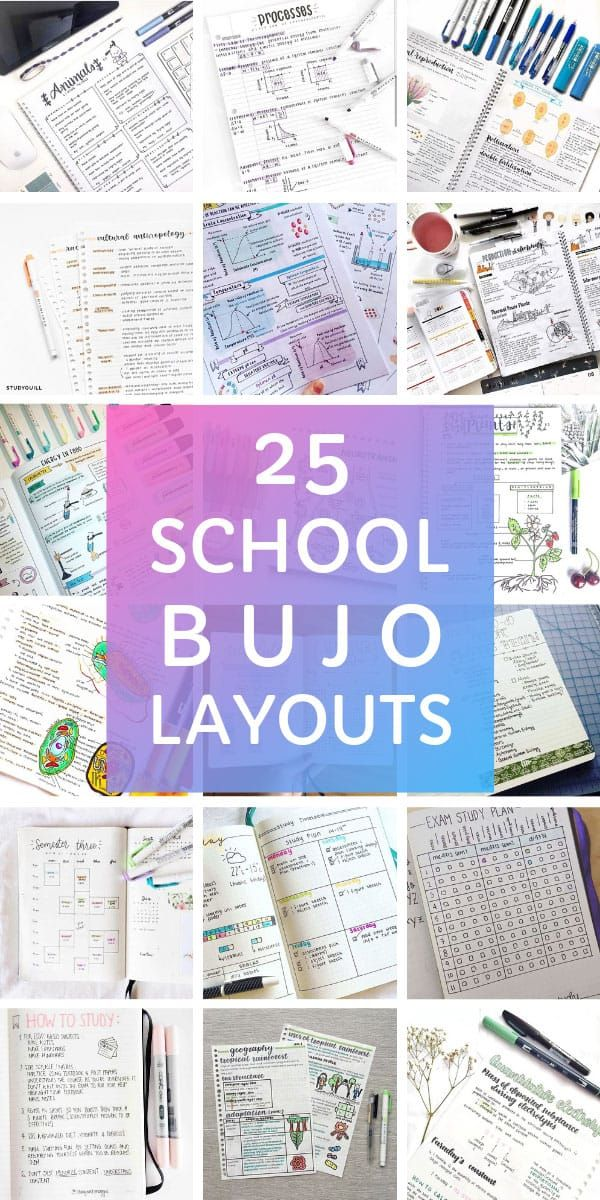 25 Creative School Bullet Journal Layouts {to help you stay on top of your study game!}