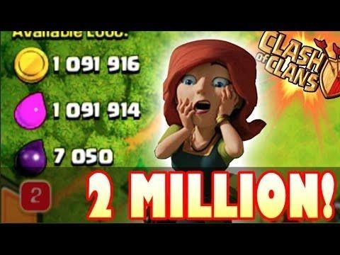 Clash of clans found over a million loot in master league