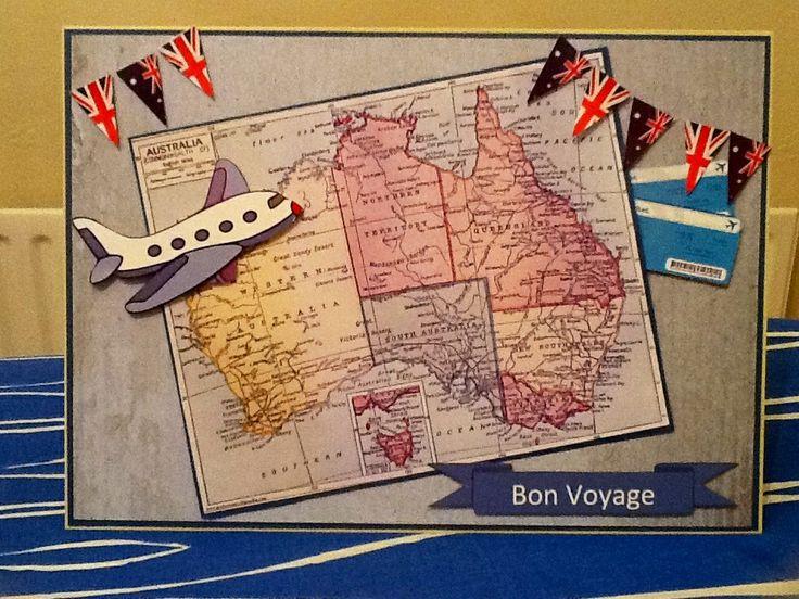 Bon voyage card, emigrating to Australia. | Personal cards ...