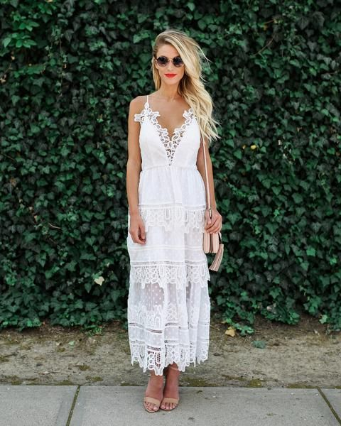 Spirited Lace Tiered Dress - Ivory – VICI