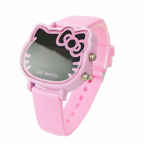Fashion-Hello-Kitty-LED-Digital-Pink-Watch-For-Children-Women-