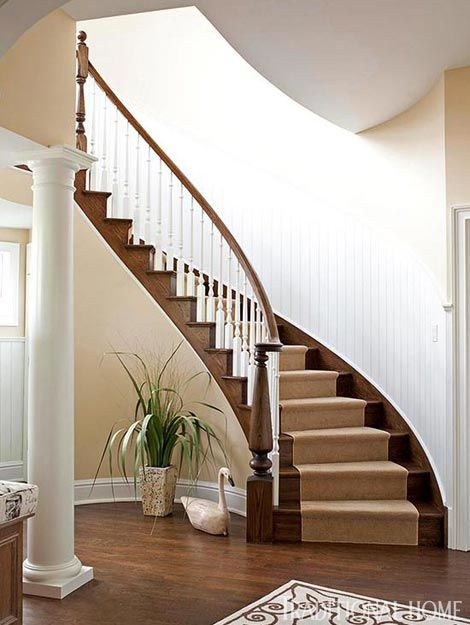 195 best images about entry foyer stairs french Curved staircase design plans