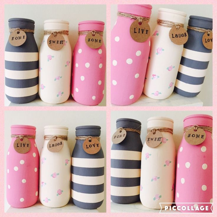 *NEW*   love these new painted mini milk bottles
