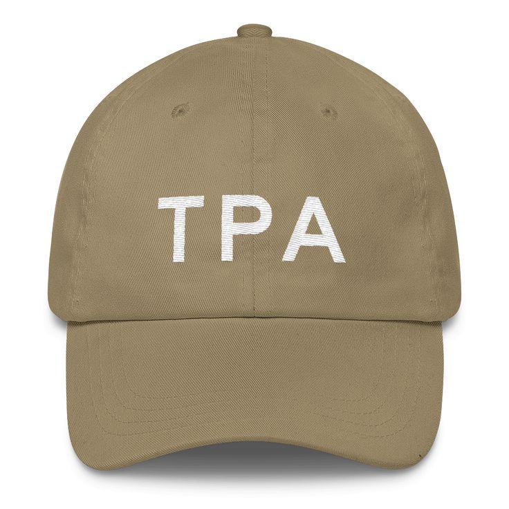 TPA Tampa Airport Code Classic Dad Cap