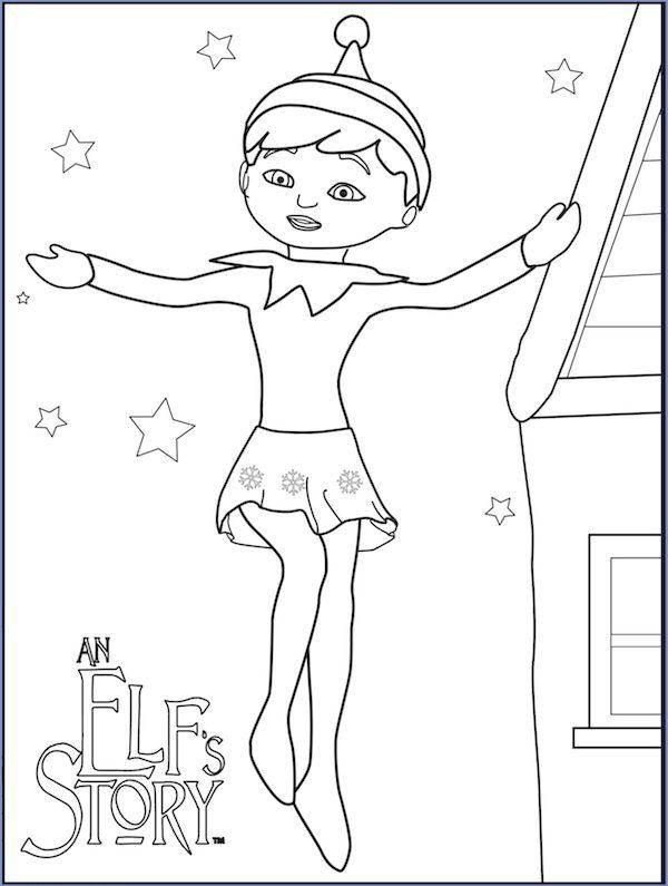 free Elf on the Shelf Coloring sheets online Enjoy