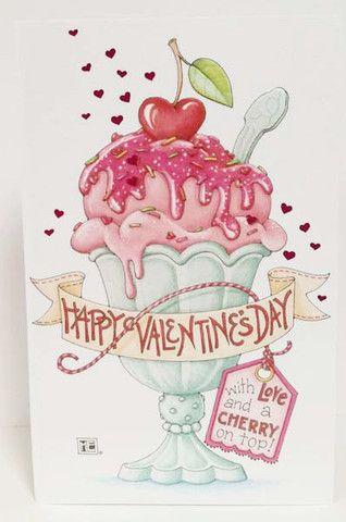 Cherry On Top Valentines Day Card Mary Engelbreit