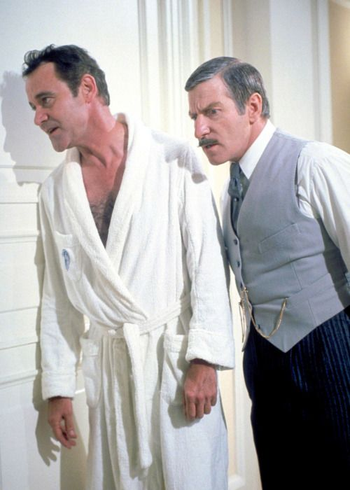 Jack Lemmon and Clive Revill, Avanti!, 1972.
