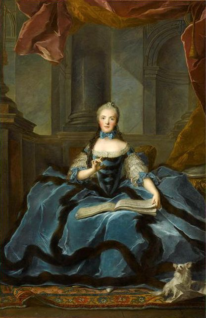Marie Adelaide of France (1732-1800), daughter of Louis XV of France and his wife Marie Leszczynska. She was never married and had no children.