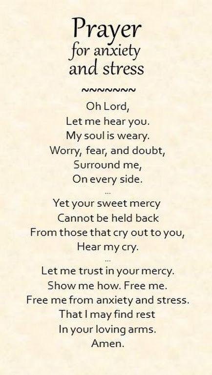 Prayer for anxiety and stress... - Wanda Crawford - Google+