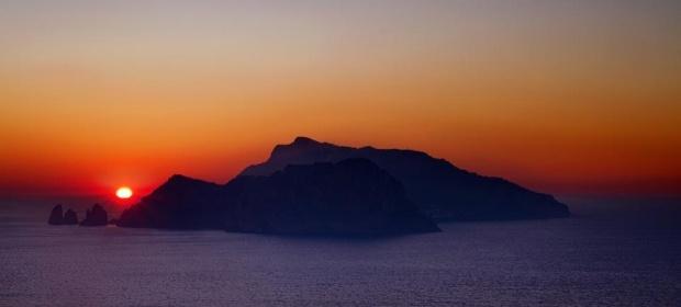 Sunset over Amalfi