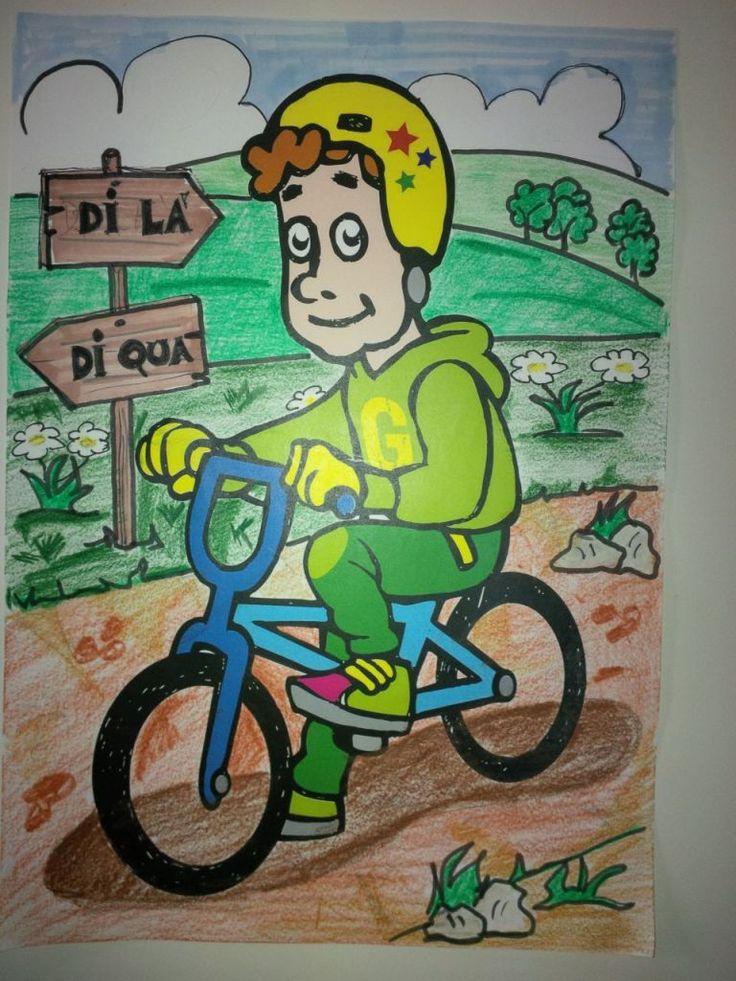 Ciao, Sono Guido Labici, la mascotte del Cicloday dell'Istituto Guido Galli di Milano ideazione grafica a cura di Guido Zucchelli Sfondo a cura di Luca Baio