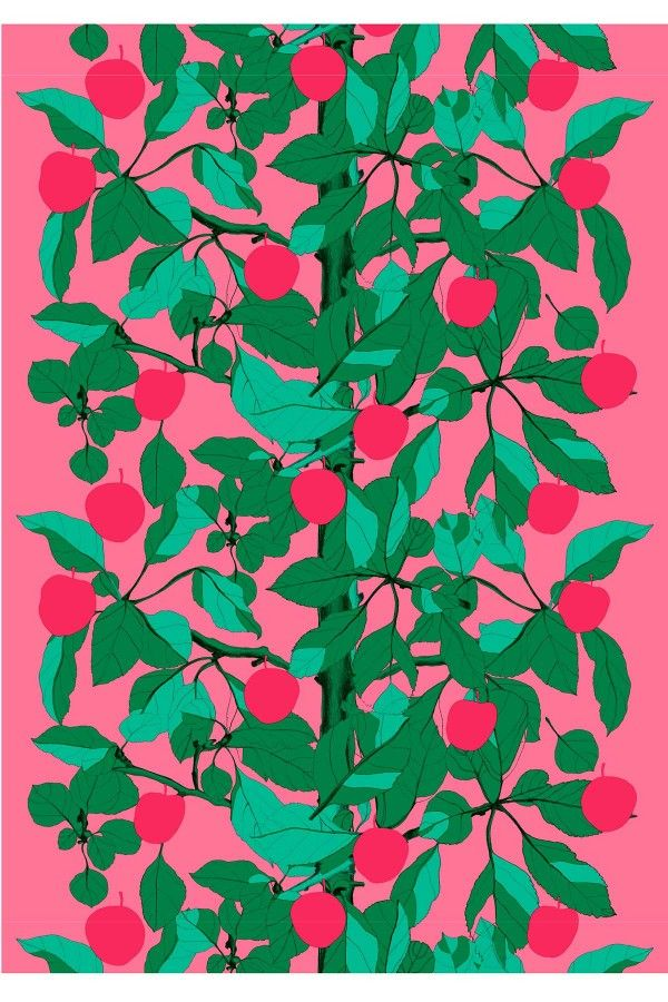 Onnen Omenapuu cotton fabric   Marimekko Spring 2013